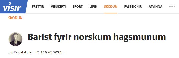 Barist fyrir norskum hagsmunum