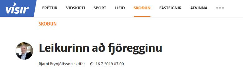 """""""Leikurinn að fjöregginu"""" – Grein Bjarna Brynjólfssonar"""