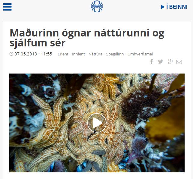 """""""Maðurinn ógnar náttúrunni og sjálfum sér"""""""