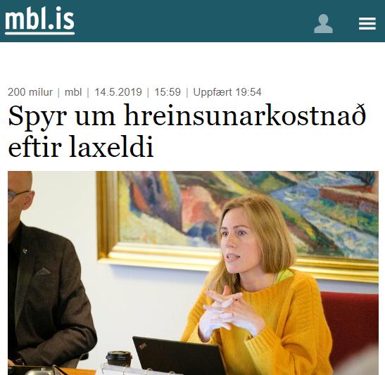 Hvað mun kosta að hreinsa upp eftir sjókvíaeldi?